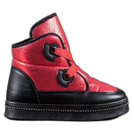 RTX WALK červená Sněhové boty s krystaly