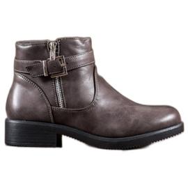 Abloom šedá Šedé boty s eko kůží