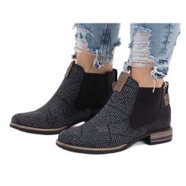 Černá Černé boty Jodhpur HX2U306-1B