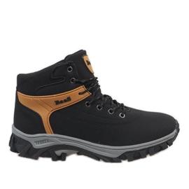 Černá Černé izolované sněhové boty 299-1