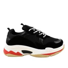 Černá módní sportovní obuv LL1710