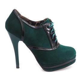 Elegantní boty na podpatku KA5513 Zelená