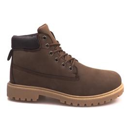 Izolované boty ZY1609-1 Hnědé hnědý