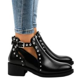 Černá Černé dámské boty na postu A-407