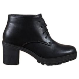 SHELOVET černá Kotníkové boty s šněrováním