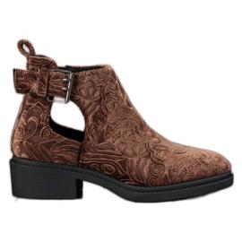 Corina Velurové kotníkové boty hnědý