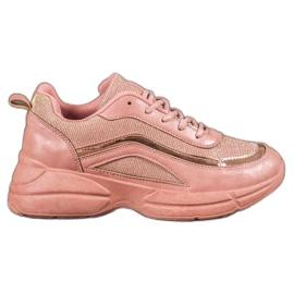 SHELOVET růžový Lesklá sportovní obuv