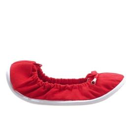 Červená Klasické baleríny VB1 červené