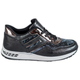 SHELOVET černá Snake Print sneakers