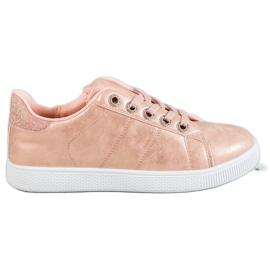 SHELOVET růžový Tenisky S Brocade