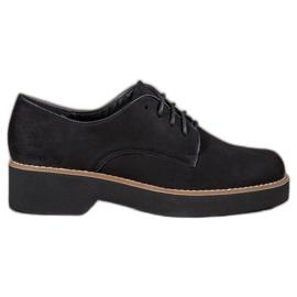 SHELOVET černá Černé semišové boty