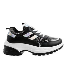 Černé stylové sportovní boty 690051 černá