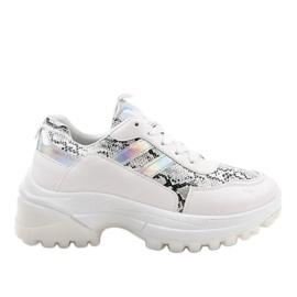Bílé stylové sportovní boty 690051