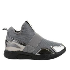 Šedá sportovní obuv s elastickou SJ1836-3