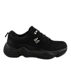 Černá módní dámská sportovní obuv BD-5