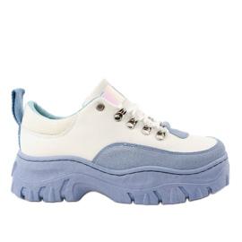 Dámská sportovní obuv PF5329 bílá a modrá