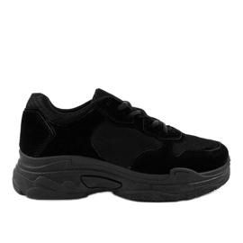Dámská semišová sportovní obuv R-372 černá