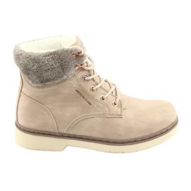 American Club Krajkové boty RH47 béžové hnědý