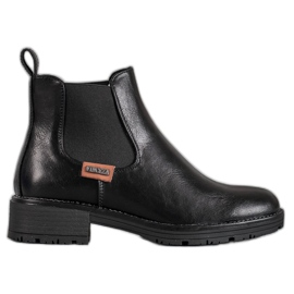 Černé boty Jodhpur VINCEZA černá