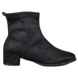 Small Swan Slip-on suede boty černá