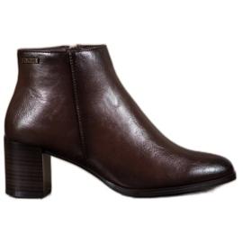 Kotníkové boty VINCEZA hnědý
