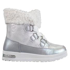 Teplé sněhové boty od MCKEYLOR šedá