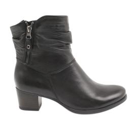 Caprice 25347 černé boty na zip černá