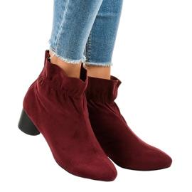 Gemre červená Burgundské semišové boty na post JM5512M