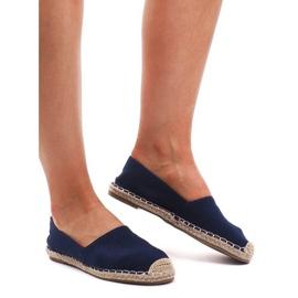 Modré sandály Espadrilles F169-6 modrý