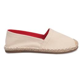 Espadrilles F169-6 Béžové sandály hnědý