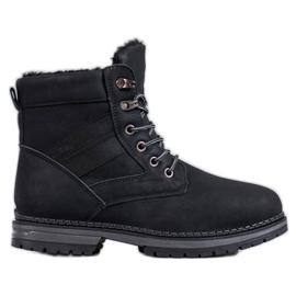 SHELOVET Černé zimní boty černá