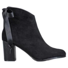 Filippo Stylové černé kotníkové boty černá