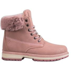 MCKEYLOR brokátové boty růžový