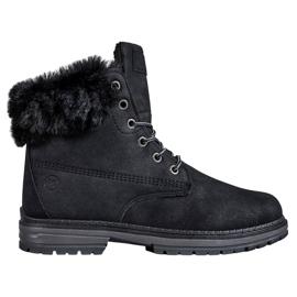 MCKEYLOR brokátové boty černá