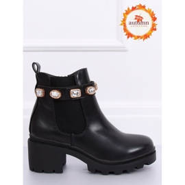 Černé boty Jodhpur černé HE107 černé černá