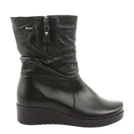 Gregors Černé klínové boty 792 černá