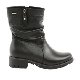 Gregors Černé boty s kožešinou 793 černé černá