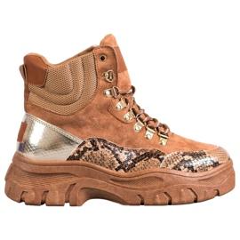 Krajkové boty VICES hnědý