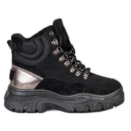 Krajkové boty VICES černá