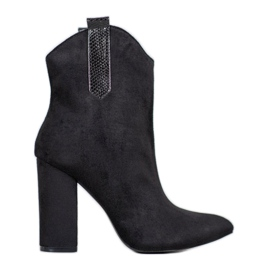 Suede Cowboy Boots VICES černá