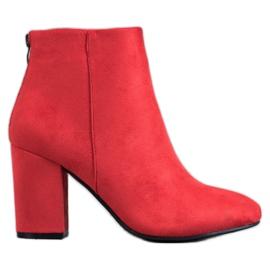 VINCEZA Sexy Boots červená