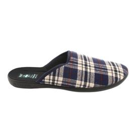 Pánské pantofle Adanex kostkované