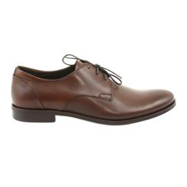 Kožená obuv Pilpol 1609 hnědá hnědý