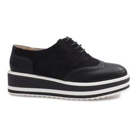 Černé krajkové boty Paulette černá