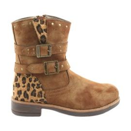 American Club Leopardské boty americké hnědé trysky hnědý