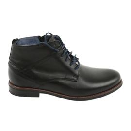 Nikopol 702 kožené boty na zip černá