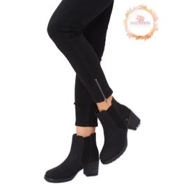 Černé boty Jodhpur černé L2065 černé černá