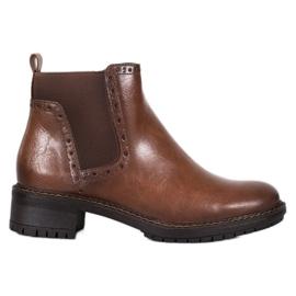Filippo Hnědé kotníkové boty s ekologickou kůží hnědý