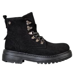 SHELOVET Dámské boty na šněrování černá