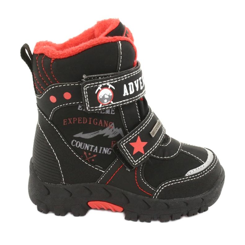 American Club Americké boty s membránovou černou RL35 černá červená